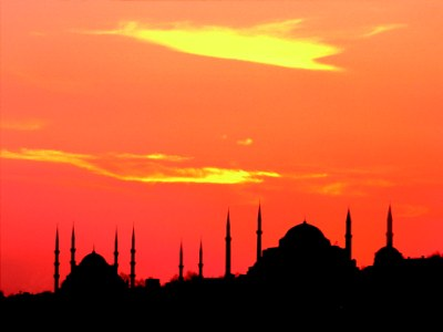 Sunset Istanbul_www.feztravel.com_Istanbul_sunset_mosques