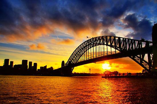Sunset Sydney_www.ozhdaustralia.com