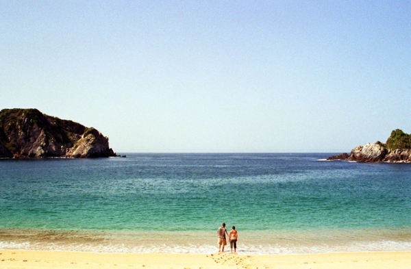 Huatulco Beach, Oaxaca, Mexico. Photo credit: Unknown
