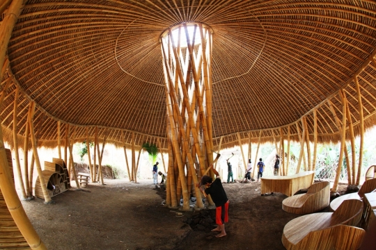 Bali's Green School, an ode to earth's most sustainable building material, the humble Bamboo!