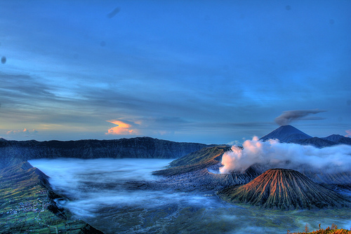 Mt. Bromo at its most majestic, just after sunrise. Photo: flickr member isa_adsr