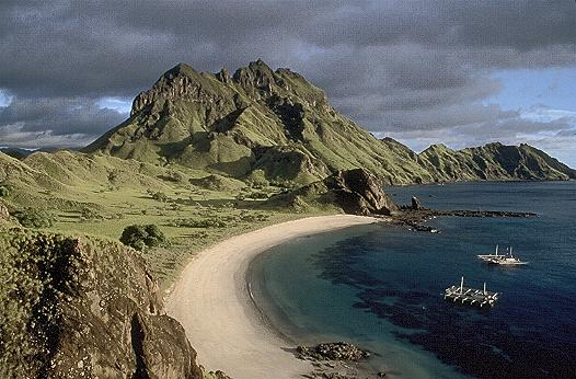 Komodo Island, East of Bali near Flores Island, the lair of the Komodo Dragon (Varanus Komodoensis)