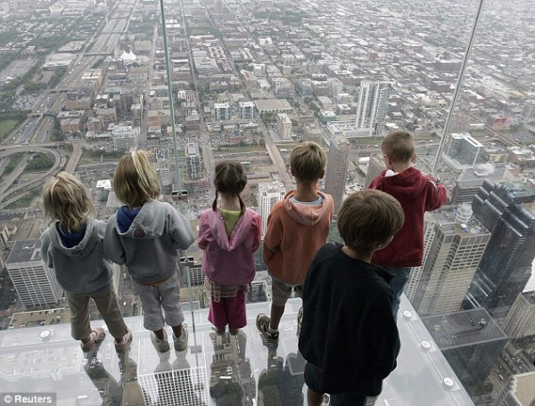Skydeck Observation on 103rd floor of Willis Tower, Chicago. Photo: AP