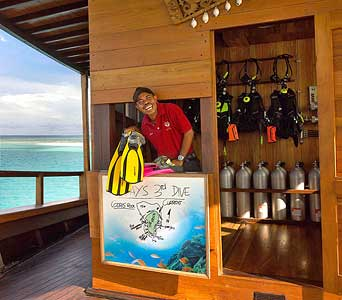 A fully equipped Dive Center for all the Scuba aficionados