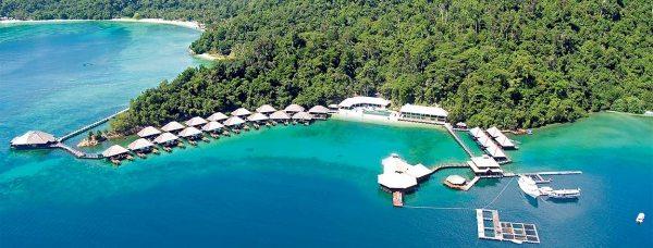 Bird's eye view. Gayana Eco Resort, Sabah, Malaysia