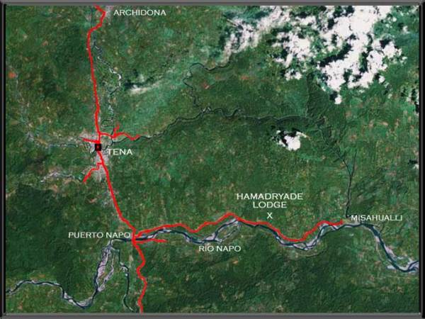 Hamadryade Eco Lodge-ECUADOR-MAP
