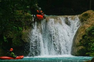 Mexico's Huasteca region has a wealth of challenging waterfalls rapids and canyon runs for kayakers to test their mettle. Photo: Paul Gallant