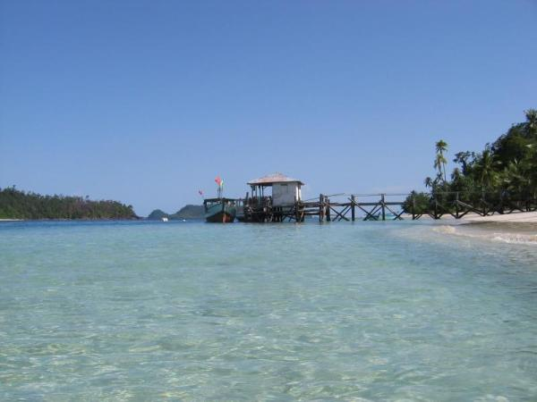 The clear blue water of Pagang Island, West Sumatra. Photo: D Nukman