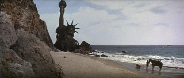Could this scene from Planet of the Apes have been the inspiration for the giant hand sculpture?
