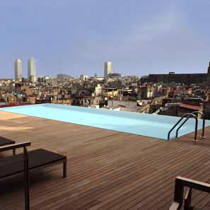 Grand Hotel Barcelona-Rooftop Pool 2