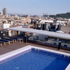 Jazz Hotel Barcelona-SPAIN Rooftop Pool 1