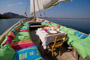 Pumulani Luxe Lodge on Lake Malawi 9-Dhow sail trip on Lake Malawi