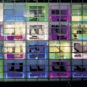 Radisson SAS-Rome-ITALY Neon Bright Exterior 2